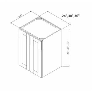Deep Double Door Wall Cabinets W243024
