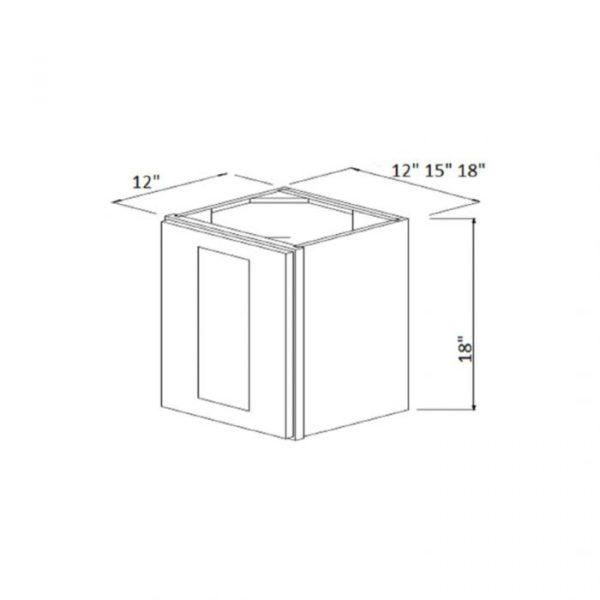 """12"""" x 18"""" High Single Door Wall Cabinet W1218"""