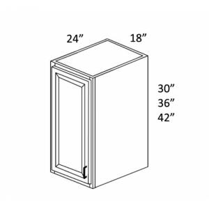 """24"""" Deep Single Door Wall Cabinets W184224"""