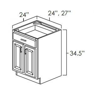 double door base cabinet b24
