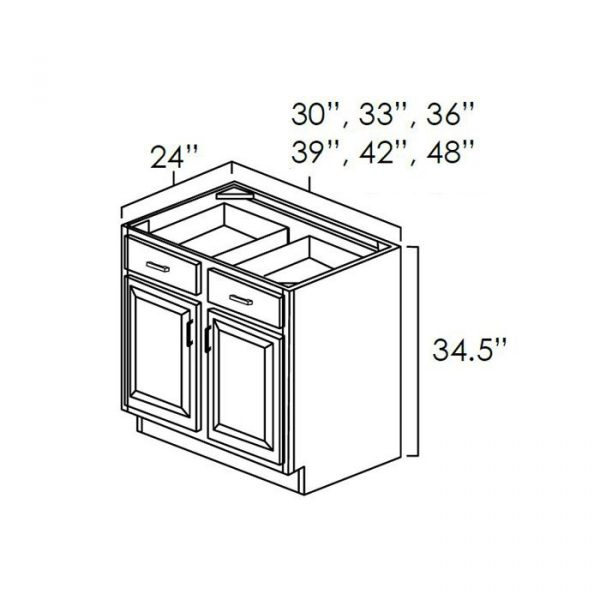 """30"""" Base Cabinet . It Measures 30""""Wx24""""Dx34.5""""H With Double Door, Drawer And Single 1/2 Depth Adjustable Shelf. B30"""
