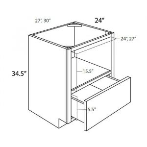 """27"""" Base Microwave Cabinet. Solid Wood Construction With 1 Soft-Close Drawer. BMC27"""
