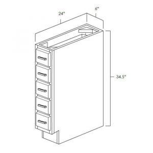 "Base Spice Cabinet . It Measures 6""Wx24""Dx34.5""H. BSD6"