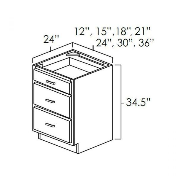 Three Drawer Base