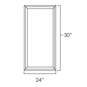 "24"" x 30"" Double Plain Glass Doors pg2430"