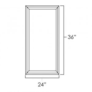 "24"" x 36"" Double Plain Glass Doors pg2436"