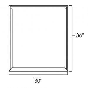 "30"" x 36"" Double Plain Glass Doors"