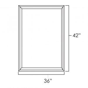 "36"" x 42"" Double Plain Glass Doors pg3642"
