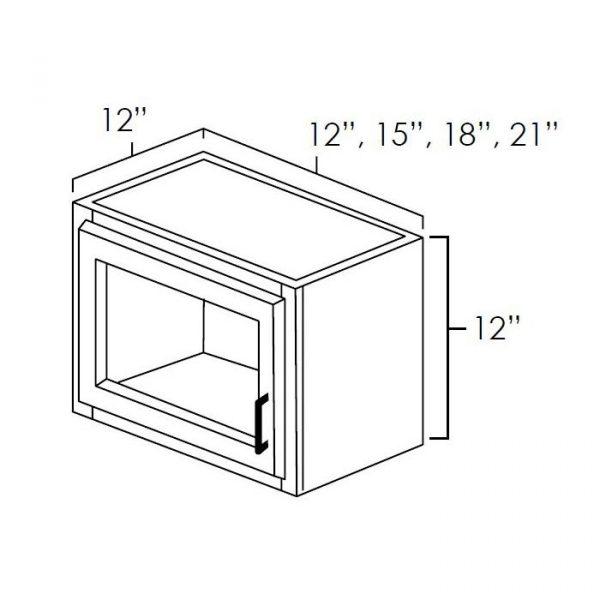 """Plain Glass 12""""X12"""". It Measures 12""""Wx12""""Dx12""""H With Plain Glass Door. W1212PG"""