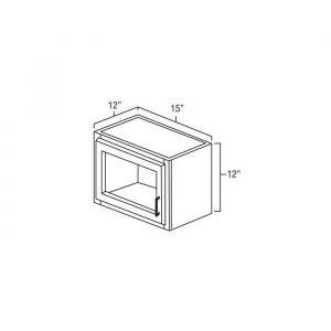 """Plain Glass 15""""X12"""". It Measures 15""""Wx12""""Dx12""""H With Plain Glass Door. W1512pg"""